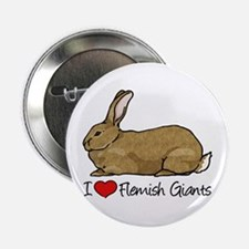 "I Heart Flemish Giant Rabbits 2.25"" Button"