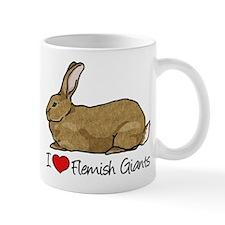 I Heart Flemish Giant Rabbits Mugs