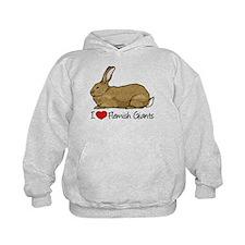I Heart Flemish Giant Rabbits Hoodie