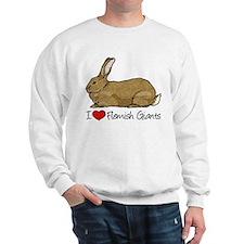 I Heart Flemish Giant Rabbits Sweatshirt