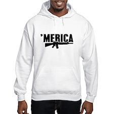 MERICA Rifle Gun Hoodie