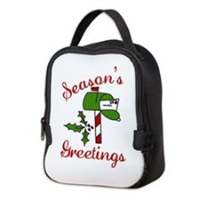 Seasons Greetings Neoprene Lunch Bag