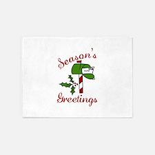 Seasons Greetings 5'x7'Area Rug