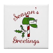 Seasons Greetings Tile Coaster