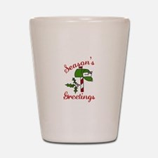 Seasons Greetings Shot Glass