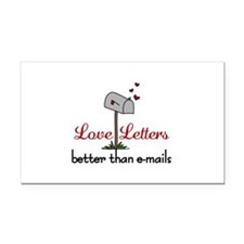 Love Letters Rectangle Car Magnet