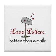 Love Letters Tile Coaster