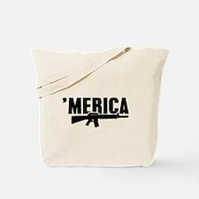 MERICA Rifle Gun Tote Bag