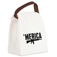 MERICA Rifle Gun Canvas Lunch Bag