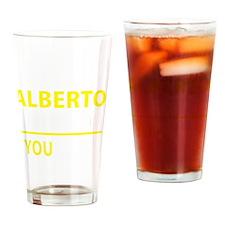 Funny Alberto Drinking Glass