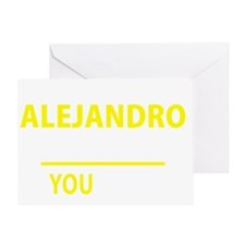 Unique Alejandro Greeting Card
