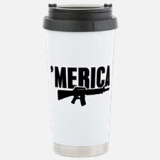 MERICA Rifle Gun Travel Mug