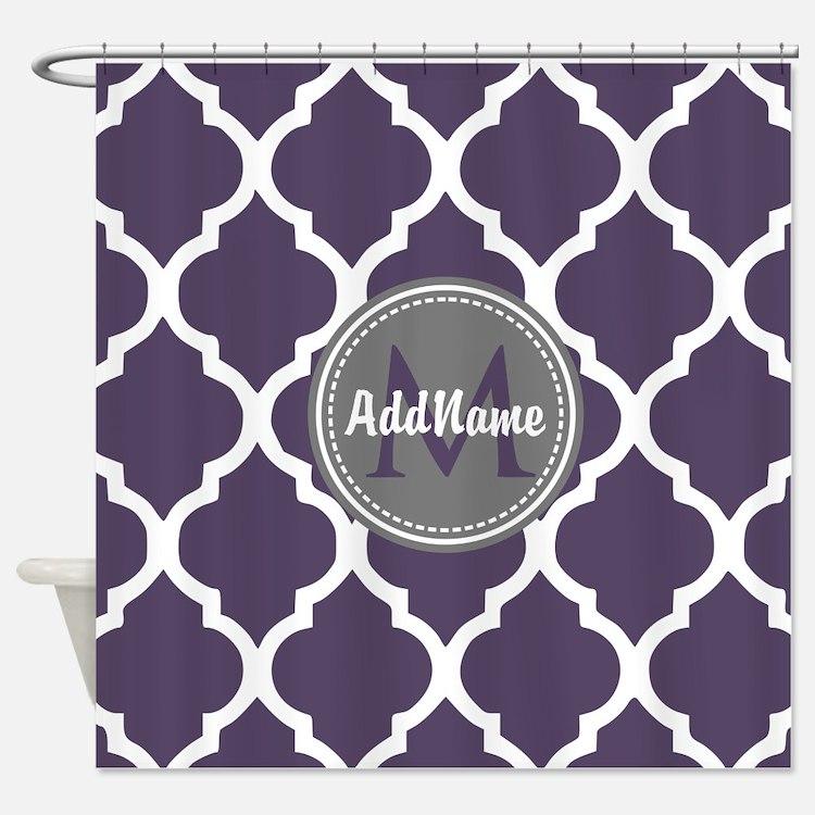Purple And Grey Shower Curtain Mainstays Sylvia Fabric Shower
