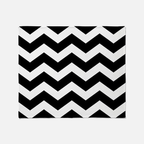 Black And White Chevron Throw Blanket