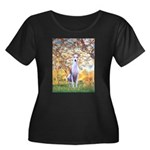 Spring / Whippet Women's Plus Size Scoop Neck Dark
