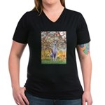 Spring / Whippet Women's V-Neck Dark T-Shirt