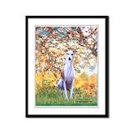Spring / Whippet Framed Panel Print