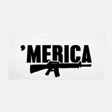 MERICA Rifle Gun Beach Towel