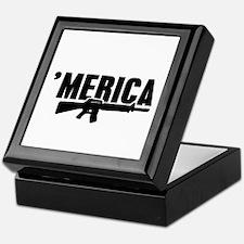 MERICA Rifle Gun Keepsake Box