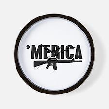 MERICA Rifle Gun Wall Clock