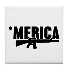 MERICA Rifle Gun Tile Coaster