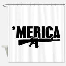 MERICA Rifle Gun Shower Curtain