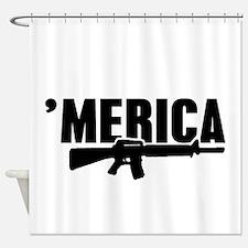 MERICA Rifle Gun Shower Curtain
