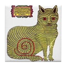 Kazan Cat Tile Coaster