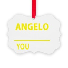 Cute Angelo Picture Ornament
