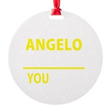 Cute Angelo Round Ornament