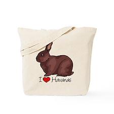 I Heart Havana Rabbits Tote Bag