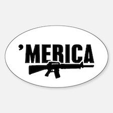 MERICA Rifle Gun Decal