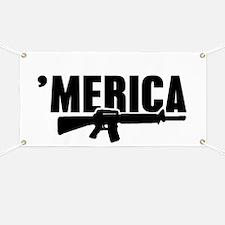 MERICA Rifle Gun Banner