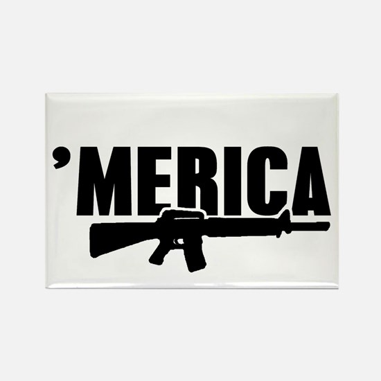 MERICA Rifle Gun Magnets