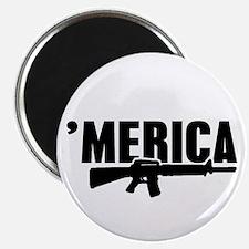 MERICA Rifle Gun Magnets