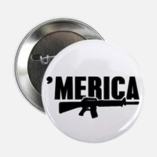 "MERICA Rifle Gun 2.25"" Button"