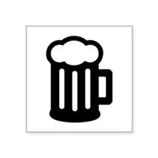 "Beer Square Sticker 3"" x 3"""