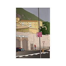 Cute Gibraltar travel Rectangle Magnet