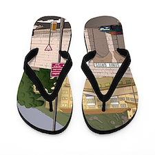 Unique Gibraltar travel Flip Flops