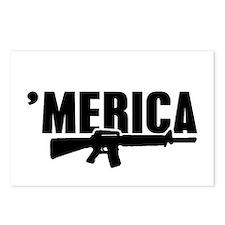 MERICA Rifle Gun Postcards (Package of 8)