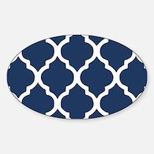 Navy Blue Quatrefoil Pattern Decal