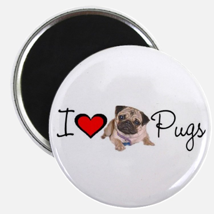 "charm_lv pugs super link.jpg 2.25"" Magnet (10 pack"