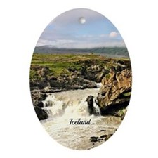 Iceland landscape photo Oval Ornament