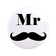 "Mr. Mustache 3.5"" Button"