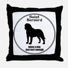 Saint Enough Throw Pillow