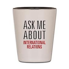 International Relations Shot Glass