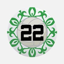 Volleyball Player Number 22 Ornament (Round)