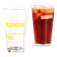 Funny Edwin Drinking Glass