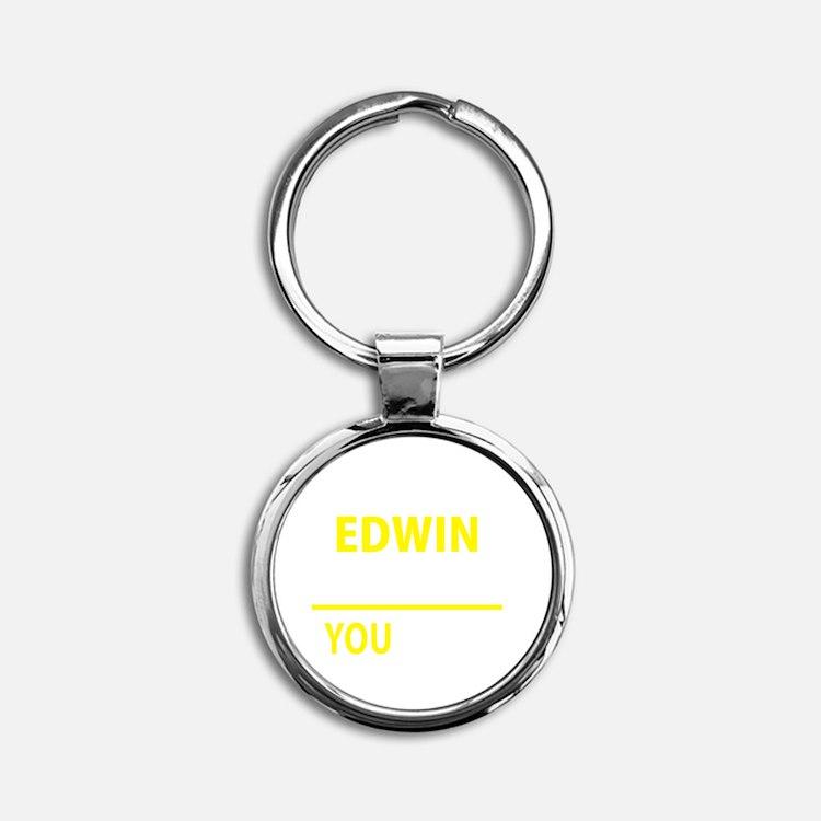 Cute Edwin Round Keychain