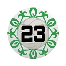 Volleyball Player Number 23 Ornament (Round)